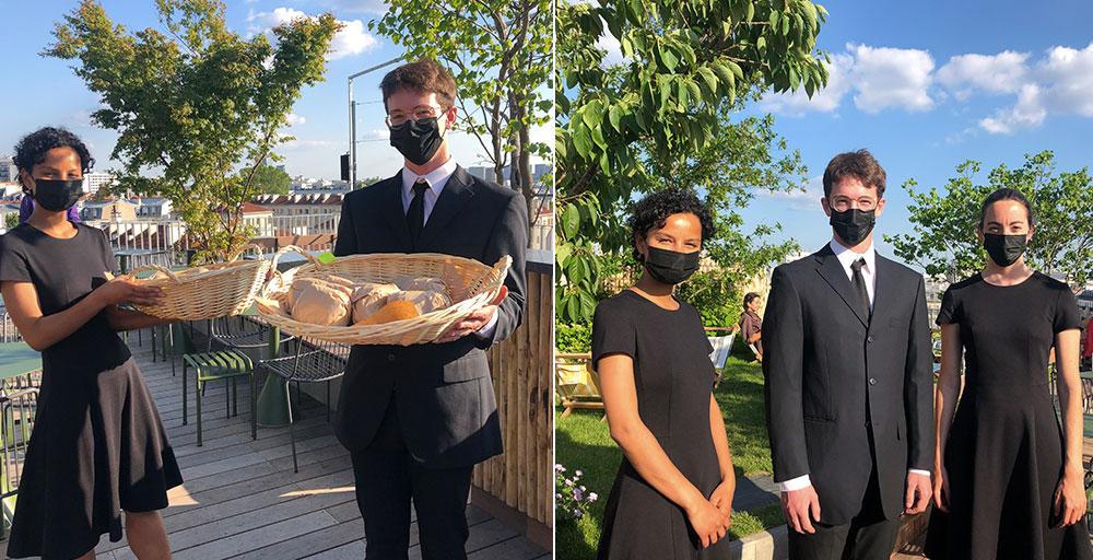 Mission de service sur le rooftop du Mk2 Hotel Paradiso pour une soirée rp-journalistes par les hôtes et hôtesses d'accueil Facett