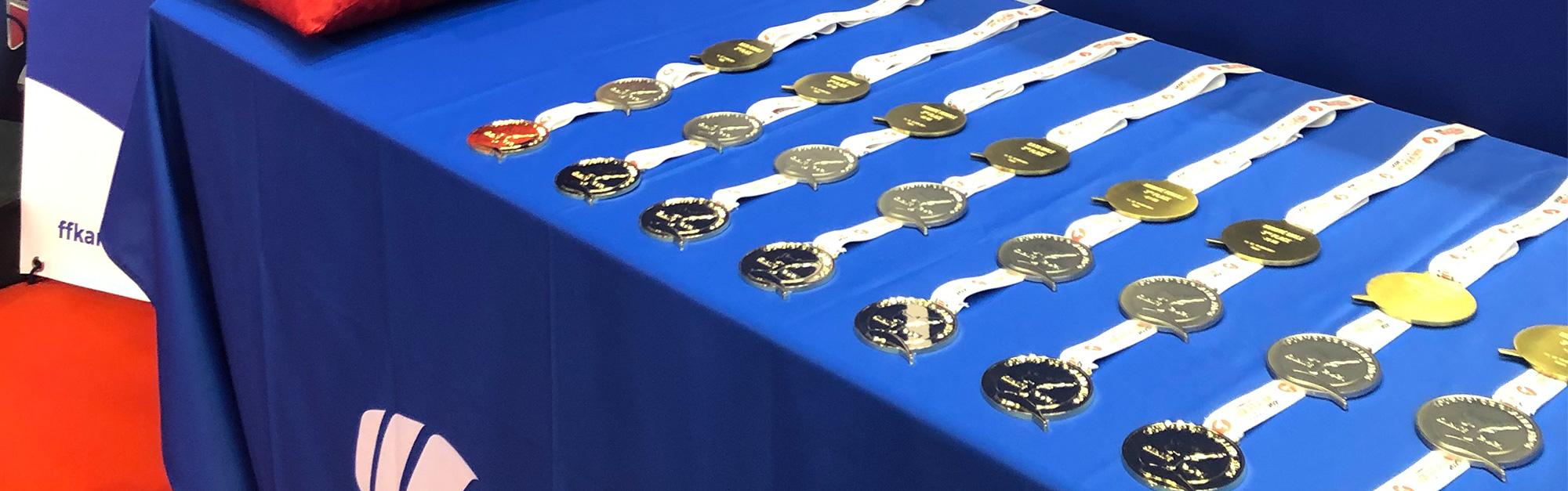 Remise des médailles au Tournoi de Qualification Olympique de Karaté 2021
